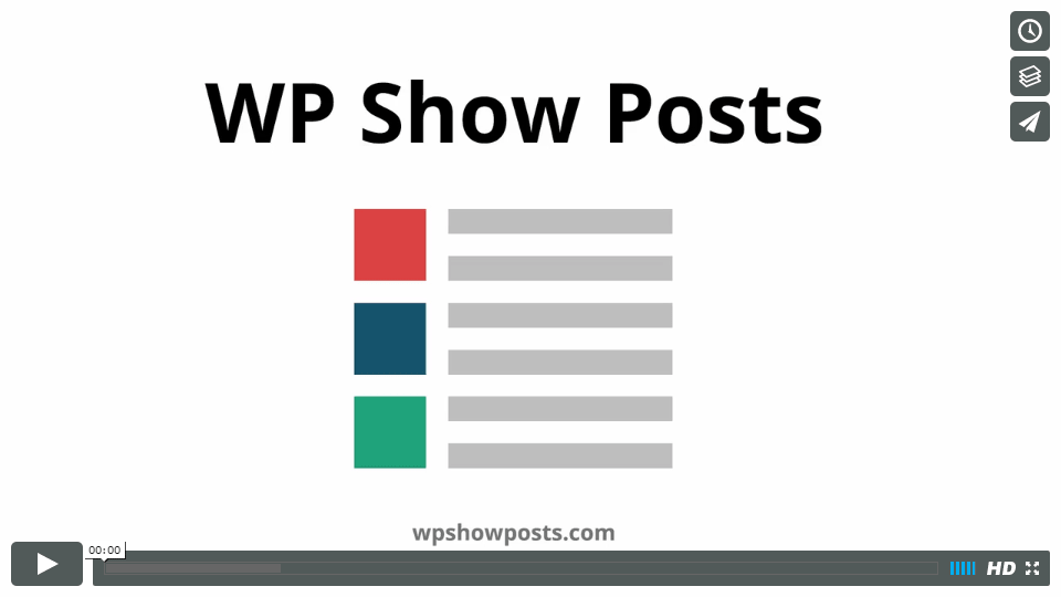 WP Show Posts Video